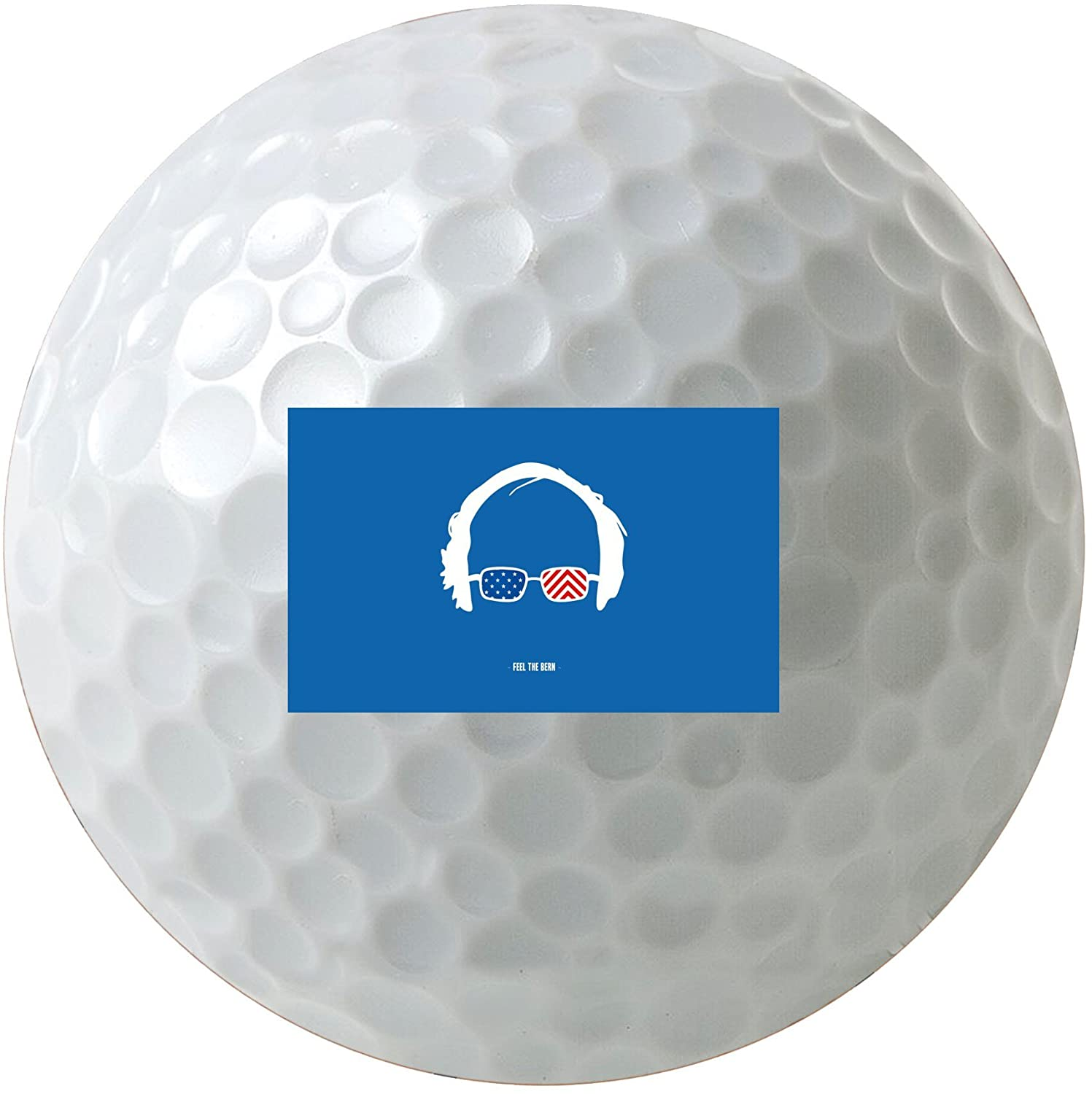 Debbie's Designs Feel The Bern Red White & Blue 3-Pack Printed Golf Balls