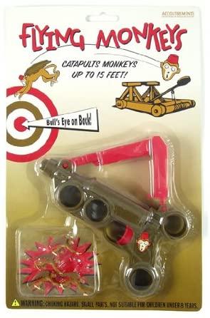 FLYING monkeys CHUCKER Toy CATAPULT gag gift gun NEW