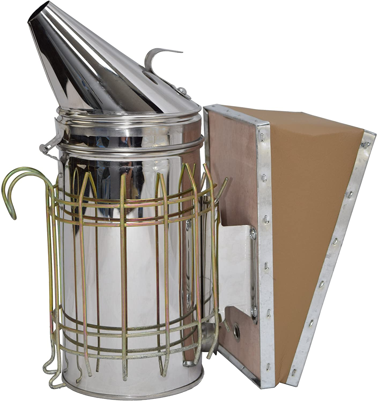 VIVO Stainless Steel Bee Hive Smoker with Heat Shield, Beekeeping Equipment (BEE-V001)