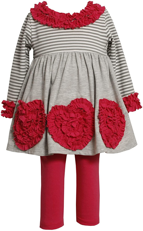 Bonnie Baby-girls Newborn Empire Waist Knit Top with Knit Legging