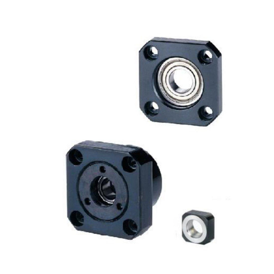 2pcs/lots 1 pcs FK12 Fixed Side +1 pcs FF12 Floated Side for SFU1605 SFU1604 Ballscrew CNC parts ball screw fk/ff12 end support