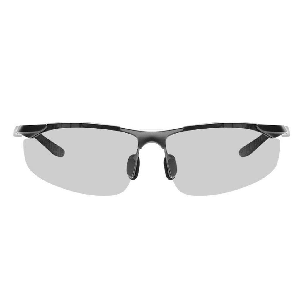 GUO XINFEN Ultra-Light Aluminum-Magnesium Color Polarized Sunglasses Riding Sports Sunglasses Smart Photosensitive Glasses
