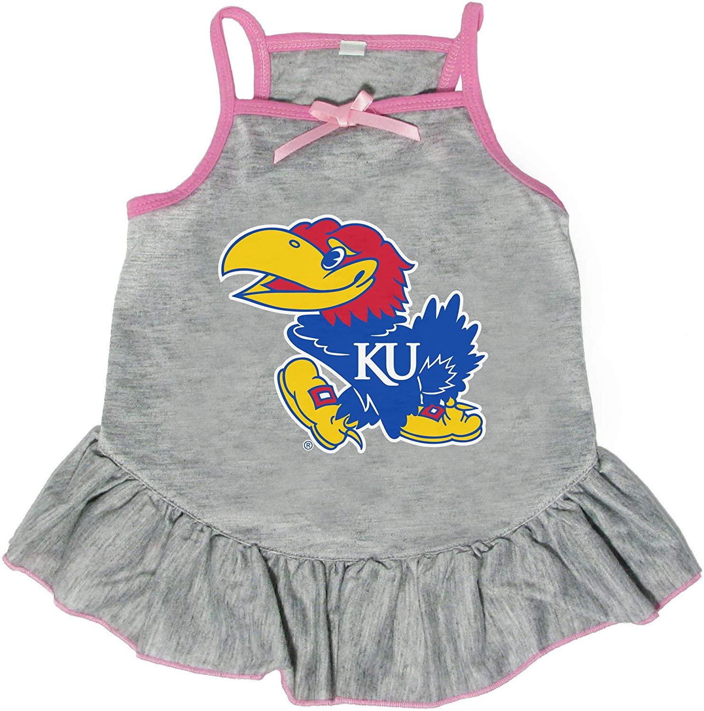 Littlearth NCAA Kansas Jayhawks Pet Dress, Extra Small