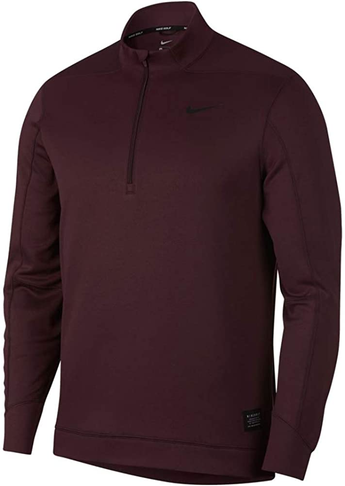 Nike Therma Repel Top Half Zip Golf Pullover 2018 Burgundy Crush/Black Medium