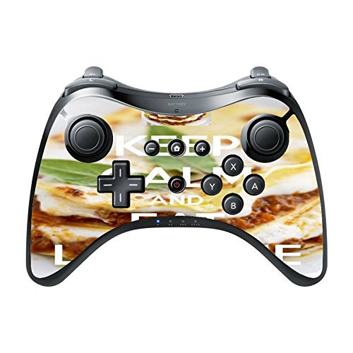 > > Decal Sticker < < Keep Calm And Eat Lasagne Quote Design Print Wii U Pro Controller Vinyl Decal Sticker Skin by Trendy Accessories by Trendy Accessories