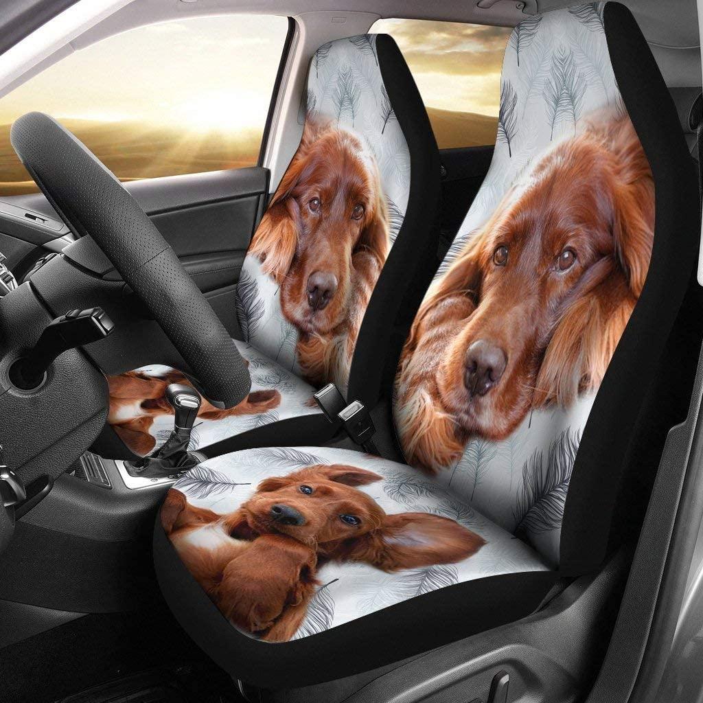 Breedink Irish Setter Dog Print Car Seat Covers