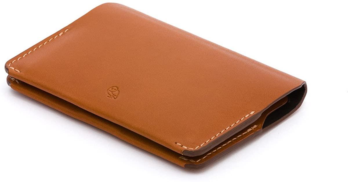 Bellroy Card Holder (Slim Leather Bifold Design, Magnetic Closure)