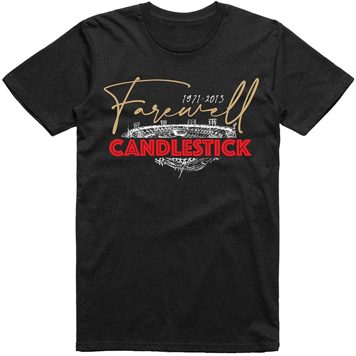 INKpressionists San Francisco Football Fans 1971-2013 Farewell Candlestick Classic T-Shirt