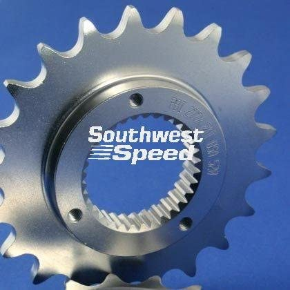 NEW SOUTHWEST SPEED 17 TOOTH FRONT COUNTERSHAFT HARLEY MOTORCYCLE SPROCKET FOR 520 CHAINS, 33 SPLINE, 1991-1992 HARLEY DAVIDSON SPORTSTER 5 SPEED, 1994-2007 BUELL BIKES, REPLACES OEM 37709-89