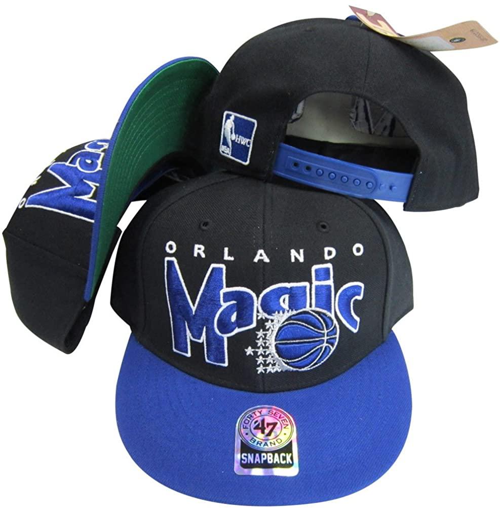 Orlando Magic Black/Blue Two Tone Plastic Snapback Adjustable Plastic Snap Back Hat/Cap