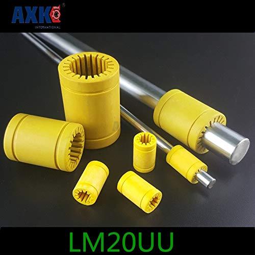 Ochoos 3D Printer Bearing 20mm Bearing Engineering Plastic Bearing Lm20-s Solid Plastic Bearing Lm20uu 20mm - (Guide Length: LM20-S 20x32x42)