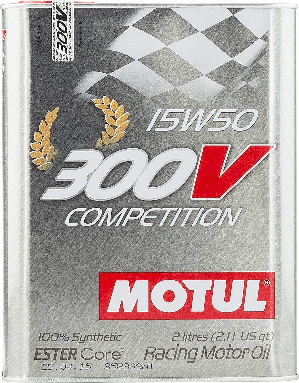 Motul 104244 300V 15w50 Synthetic Racing Oil, 2L