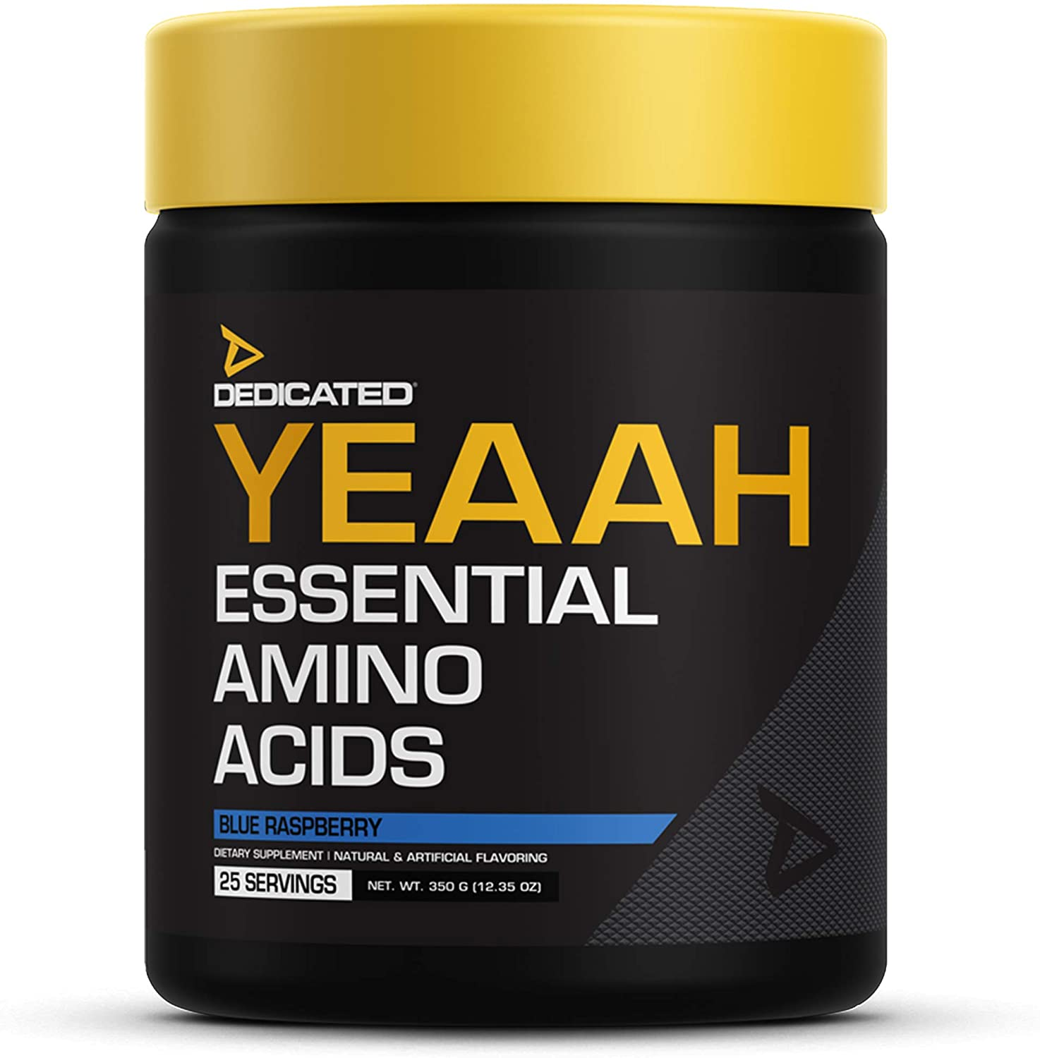 DEDICATED Nutrition YEAAH EAAs | Essential Amino Acids, Branched Chain Amino Acids, Recovery, Muscle Growth, Pump, Electrolytes, Intra-Workout | Citrulline, Leuice, Taurine (Blue Raspberry)
