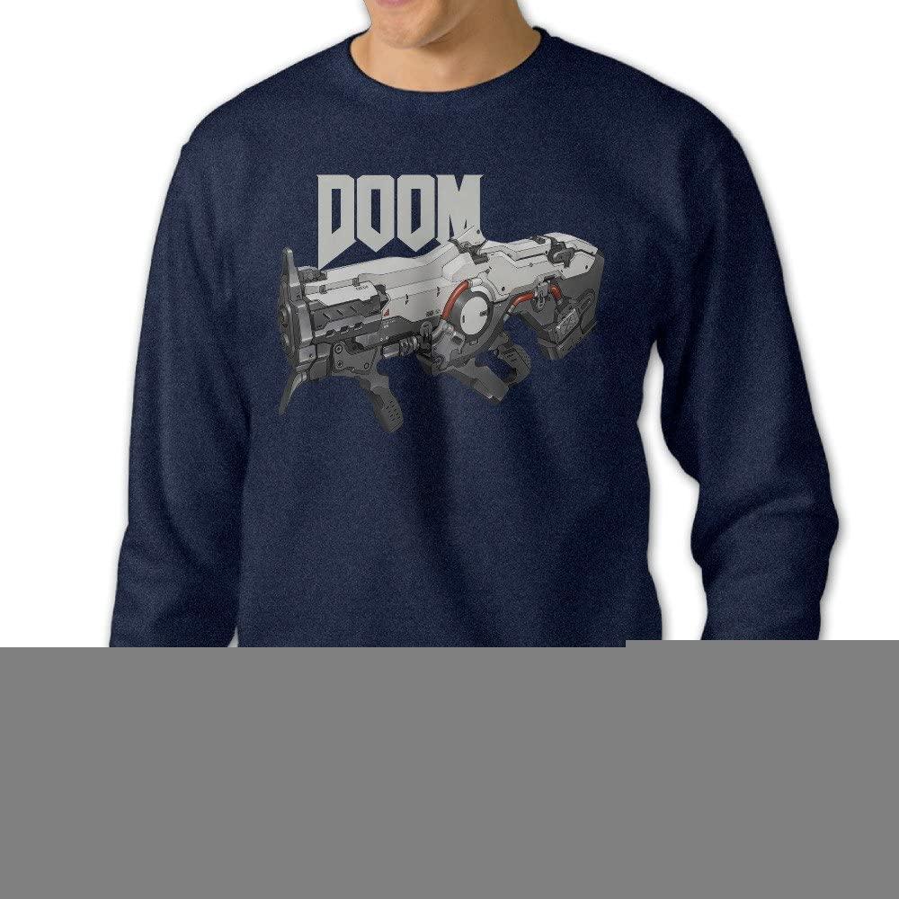 Missone Doom Gun Mens Pullover Sweatshirt Navy