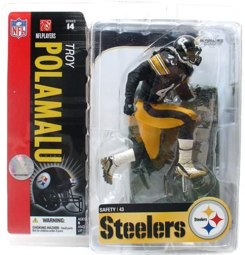 McFarlane Toys NFL Sports Picks Series 14 Action Figure Troy Polamalu (Pittsburgh Steelers) Snow on Field Variant