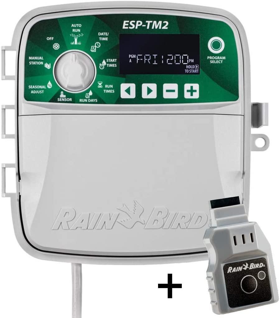 Rain-Bird ESP-TM2 Indoor Outdoor Irrigation WiFi Zone Controller Timer Box and Link Lnk WiFi Mobile Wireless Smartphone Upgrade Module Sprinkler System (12 Zone)