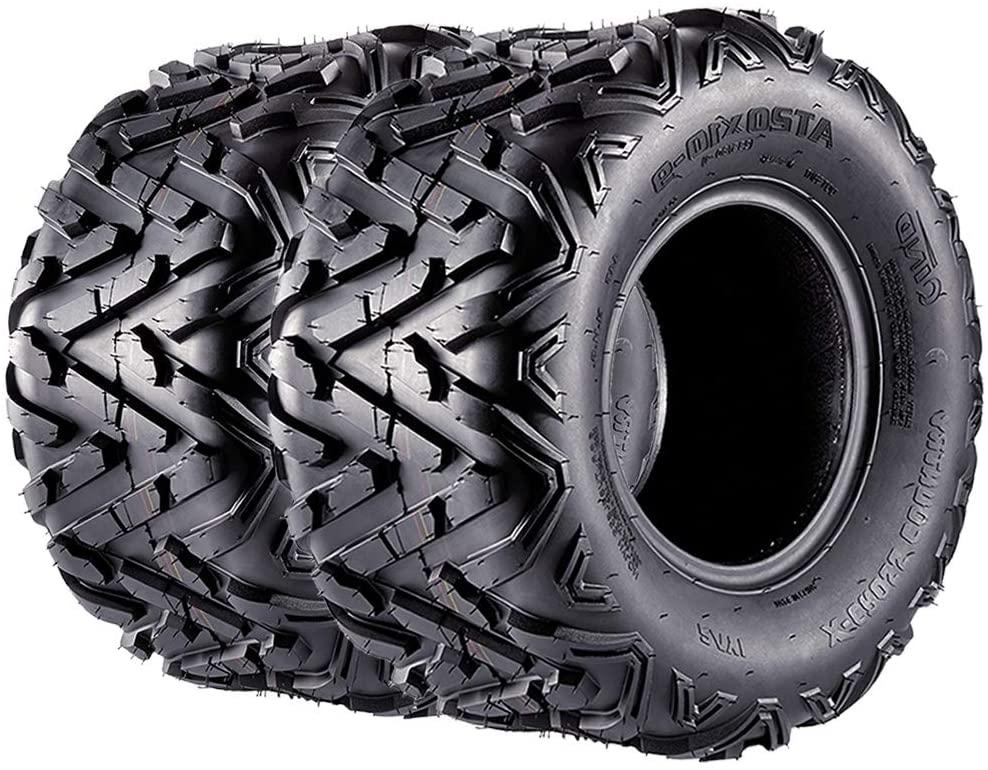 Set of 2 Sport ATV Tires 20x10x9 20x10-9 Rear Off-Road Quad Tire, 6PR, Speed Rating F