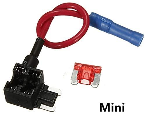 Chavis 12V/24V Fuse Holder Add-a-circuit TAP Adapter Mini/small/Medium ATM APM Blade Auto Fuse with 10A Blade Car Fuse with holder - (Color: Mini type)