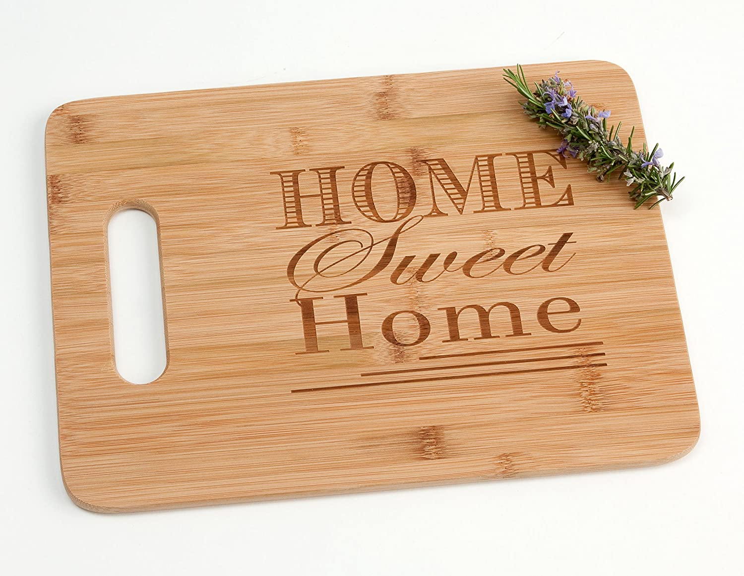 Home Sweet Home Engraved Wood Cutting Board for Housewarming Wedding Gift