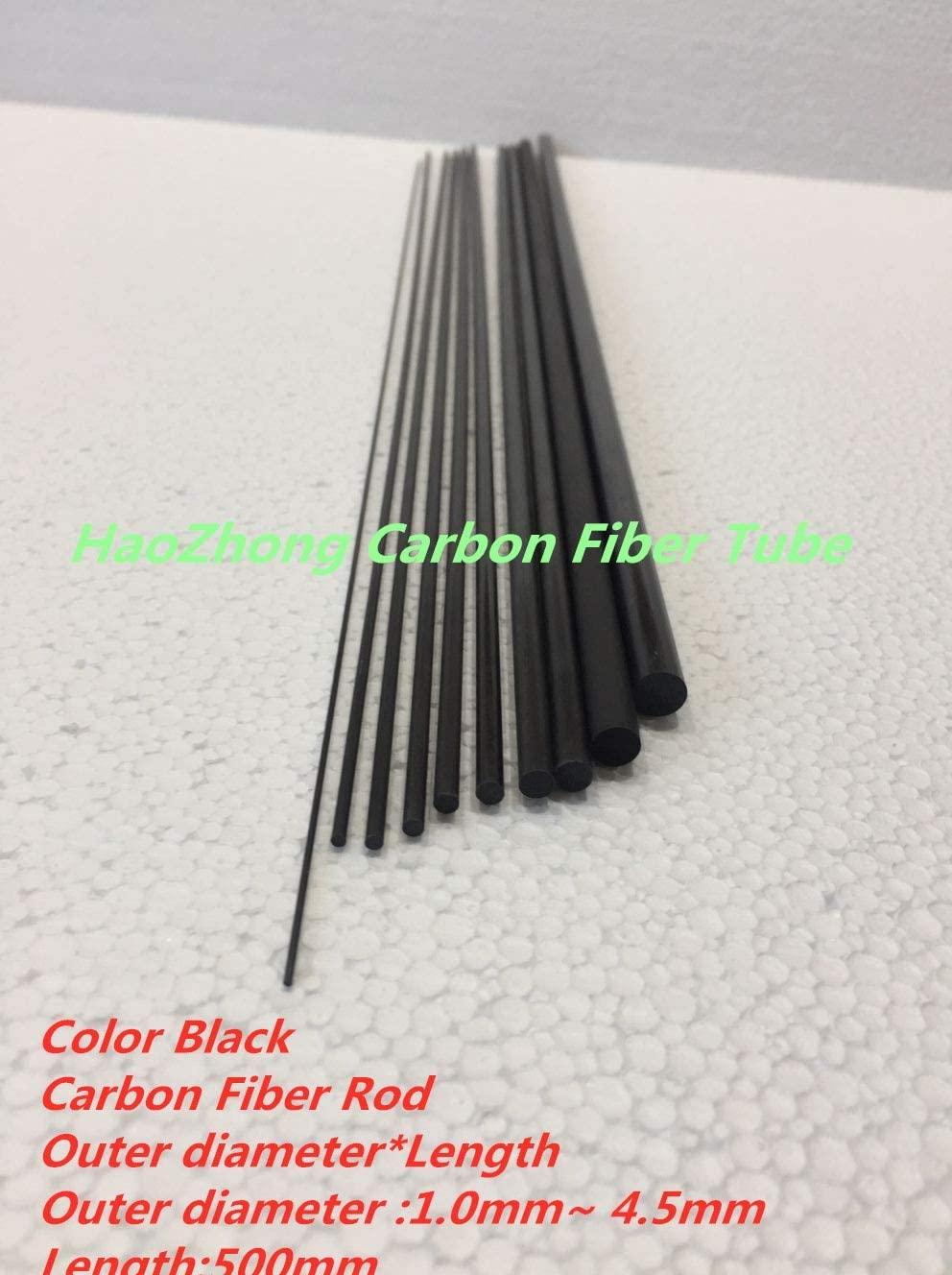 Parts & Accessories Carbon Fiber Rods od 1.0mm 2.0mm 2.5mm 3.0mm 3.5mm 4.0mm 4.5mmm Black Length 500mm Suit for RC Model - (Color: 10pcs od 3.0mm)