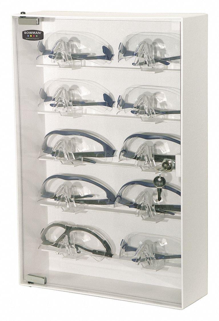 BOWMAN CP-075 Eyewear Cabinet, Locking, 20.00