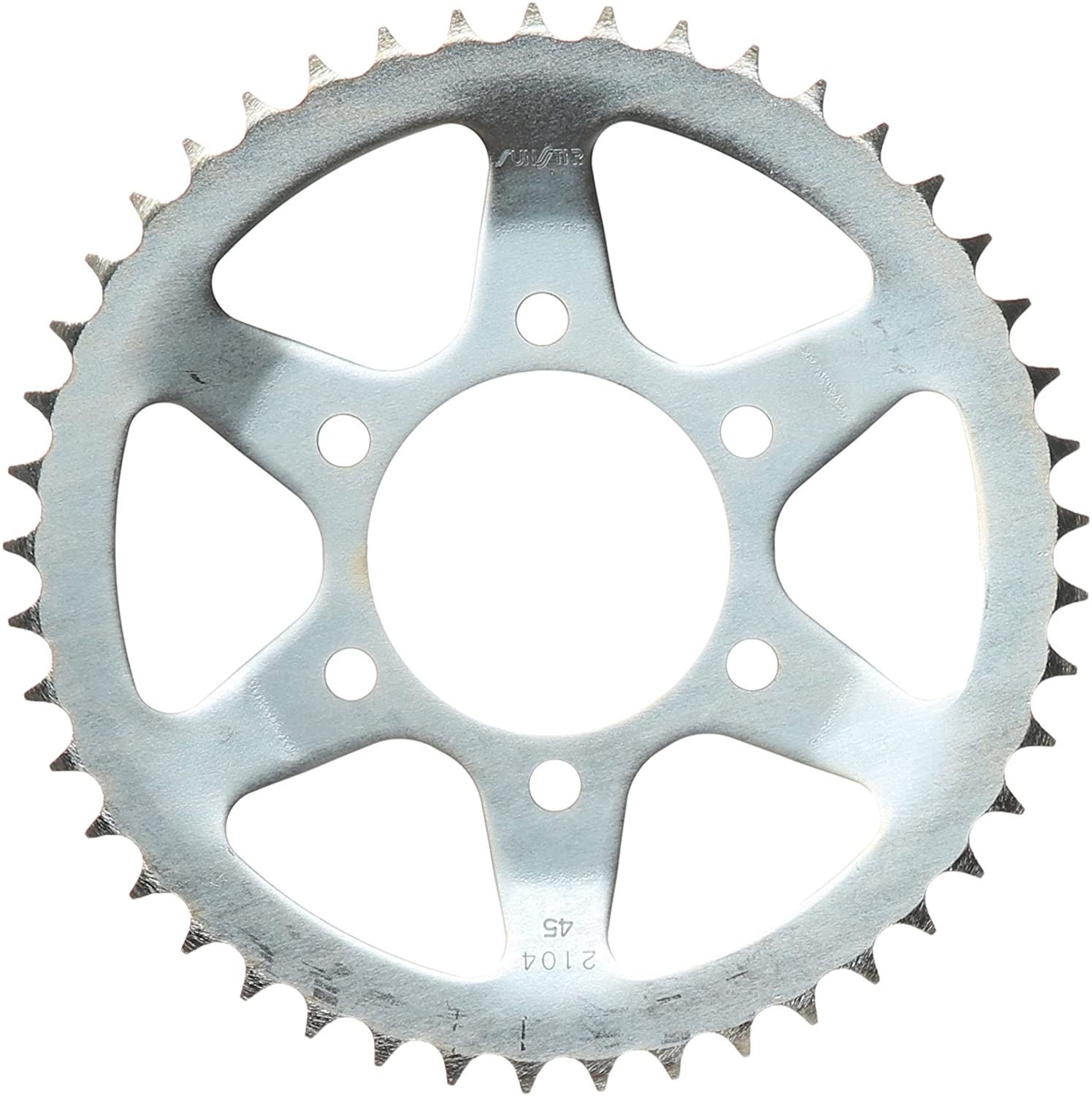 Sunstar 2-210445 45-Teeth 428 Chain Size Rear Steel Sprocket