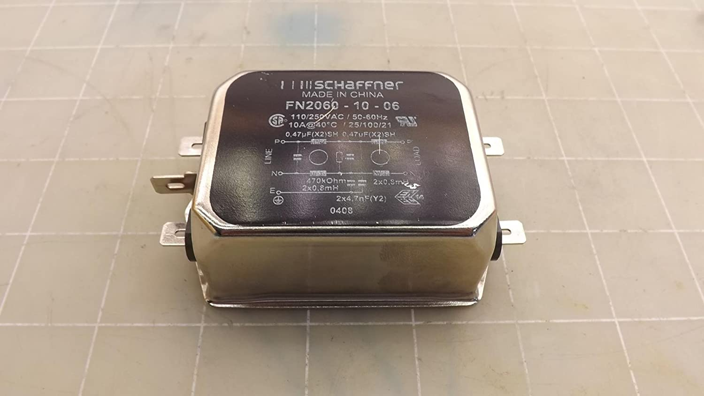 SCHAFFNER FN2060-10-06 EMI POWER LINE FILTER, 10A, 734UA