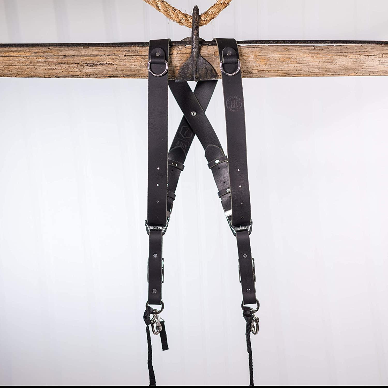 HoldFast Gear Money Maker Multi-Camera Harness, Water Buffalo, Small, Black