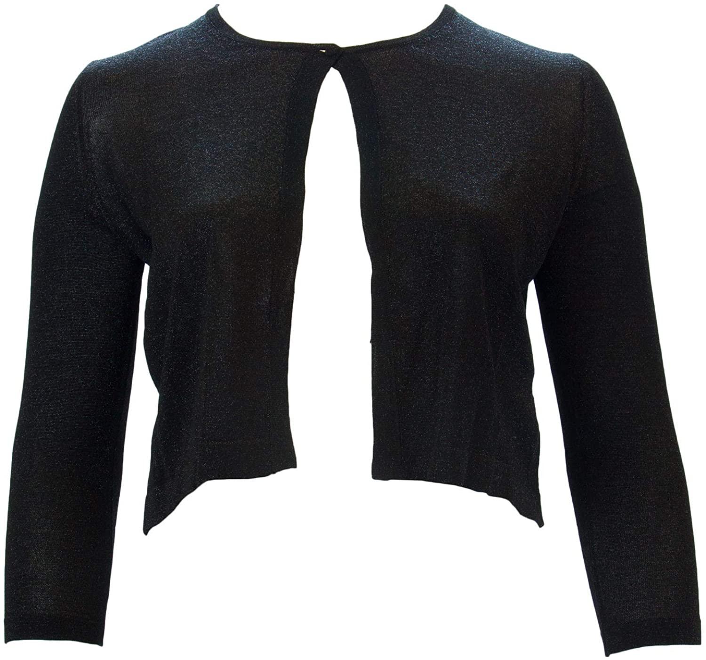 Marina Rinaldi Women's Matisse Shimmer Cardigan, Black, Small