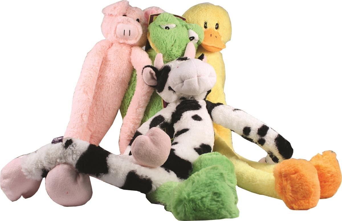 Multipet International Swingin' Slevins Plush Dog Toy Pink