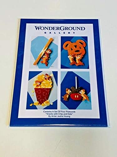 disney wonderground snacks with chip and dale postcard