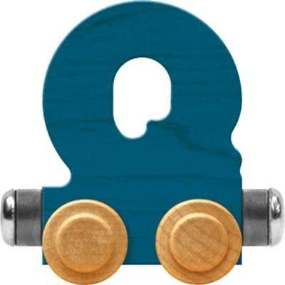 Maple Landmark NameTrain Bright Letter Car Q - Made in USA (Blue)
