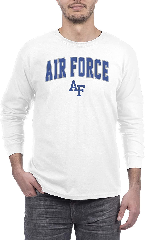 Elite Fan Shop White Basic Long Sleeve College Arching T-Shirt