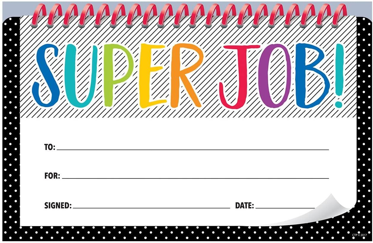 Creative Teaching Press Bold & Bright Super Job! Incentive Award (30 Per Pack), Multi (2516)