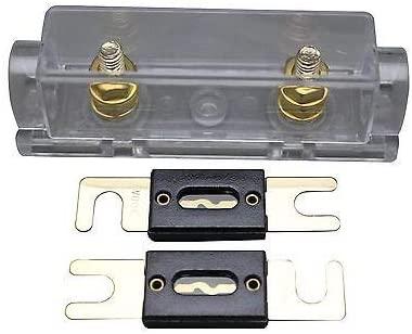 Davitu APS ANL Fuse Holder Distribution Inline 0 4 8 GA Gold Plated Free 2X150A ANL