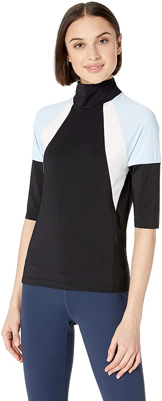 Maaji Women's Epic Short Sleeve Color Blocked Running Top