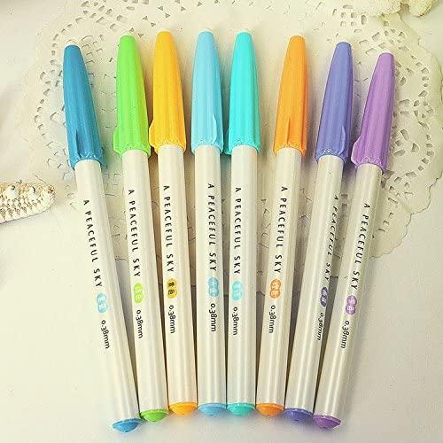 12 pcs/Lot 0.38mm color pen Umbrella pencil cap gel pens Stationery Office accessories