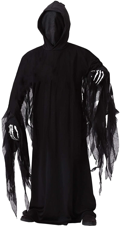 Child's Spooky Death Robe Costume Kid's Dark Reaper Costume