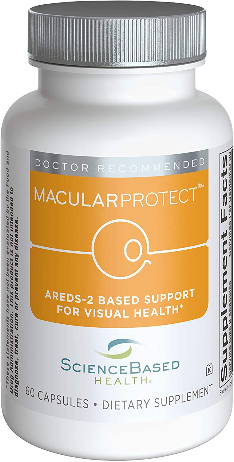 MacularProtect AREDS2 Vitamin & Mineral Supplement - Includes Trio of B Vitamins for Added Macular Health Support - 60 Capsules