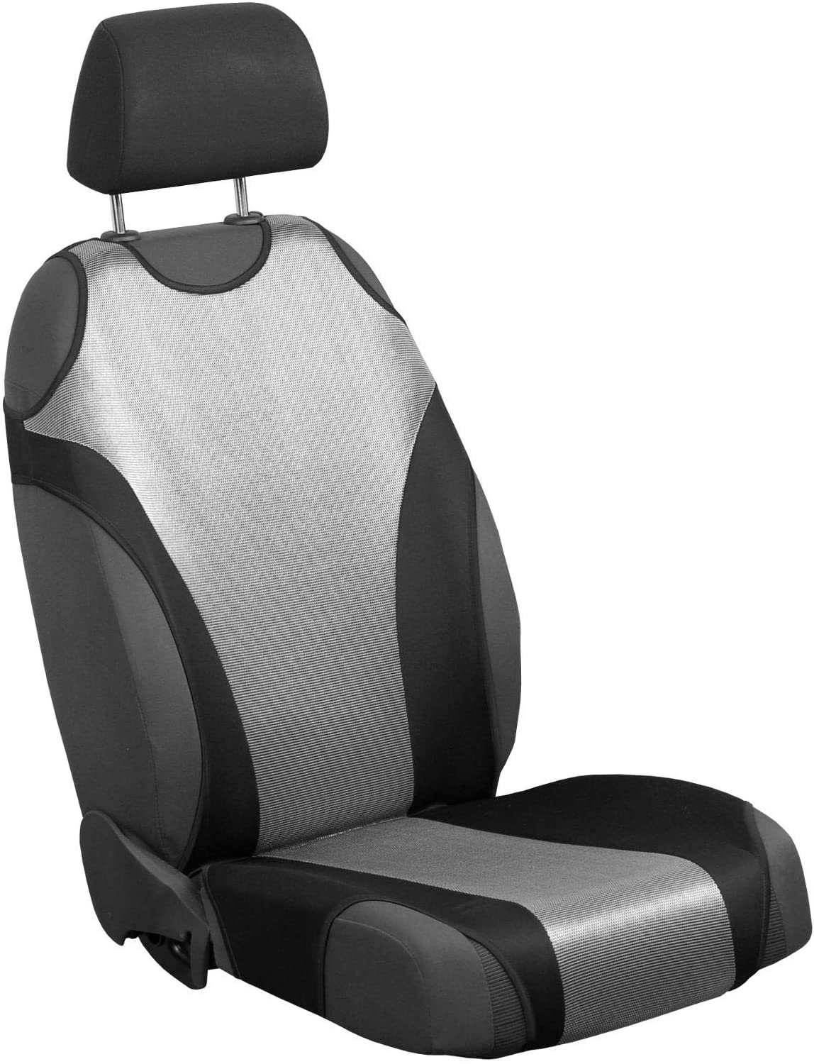 Zakschneider Car Seat Covers for Carina - Driver Seat - Color Premium Silver & Black