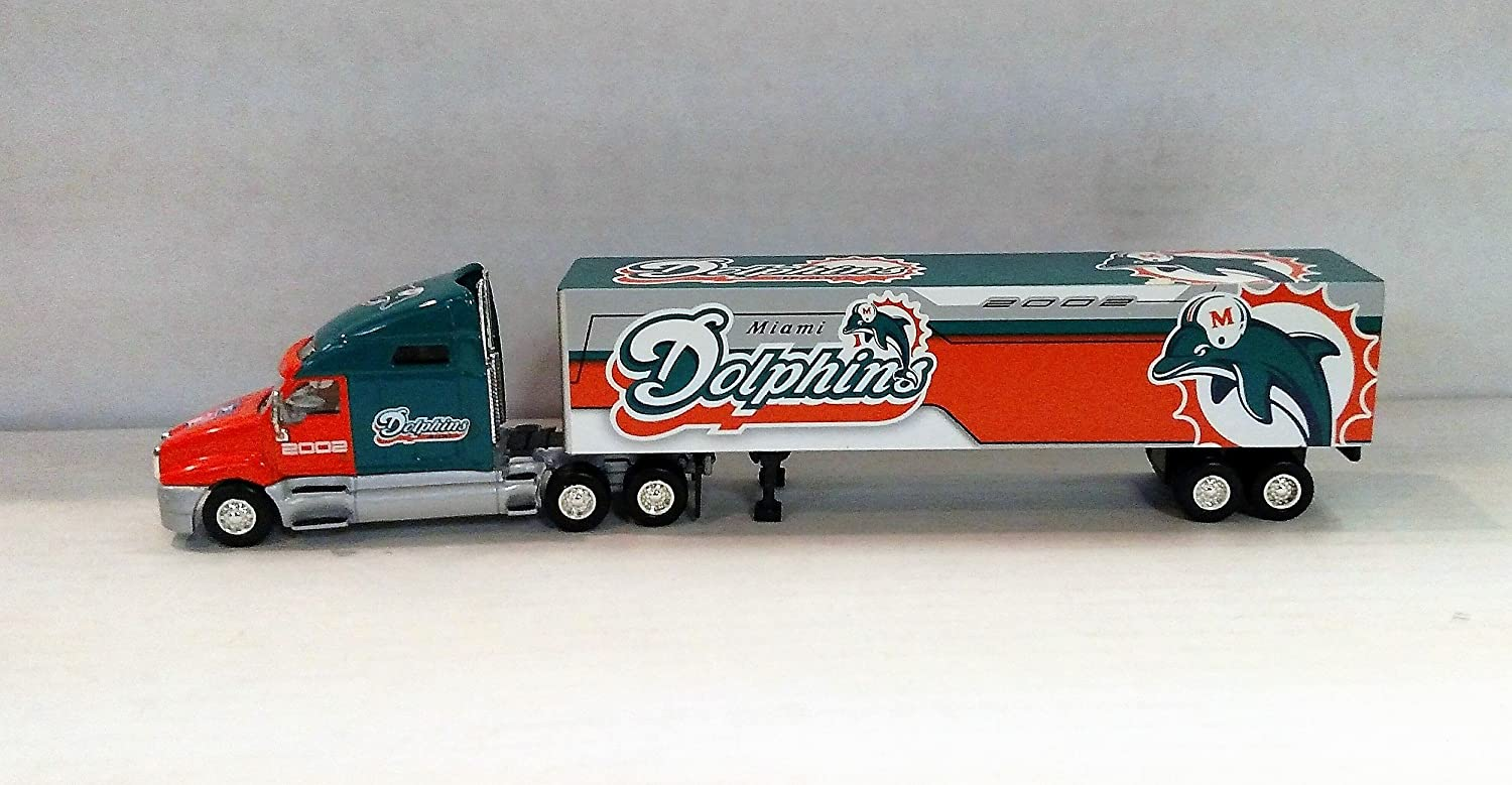 Miami Dolphins 2002 NFL Limited Edition Die-Cast 1:80 Tractor-Trailer Semi Truck Collectible