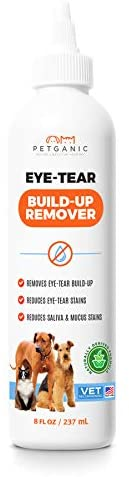 Petganic Natural Gentle Eye Tear Stain Remover - Removes Stains and Residue for Dogs & Cats