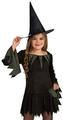 Rubies Goth Girl Cute Witch Dress Hat Kids Halloween Costume