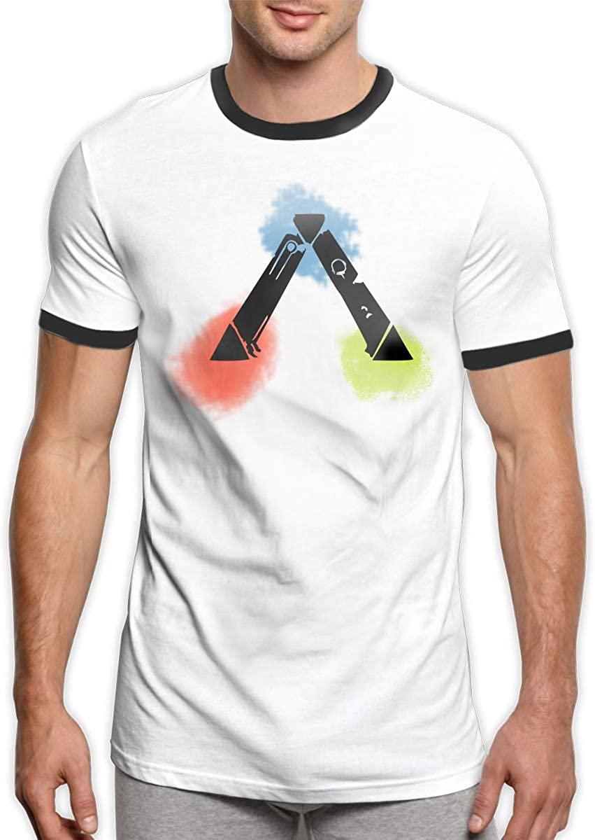 Ark-Survival Evolved Mens Short Sleeve Tshirt Contrast T Shirt Summer