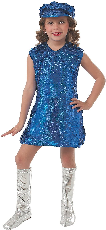 Rubie's Blue Mod Girl Costume, Child Large