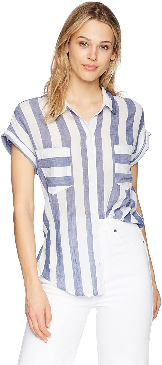 Lucky Brand Women's Stripe Tie Back Top