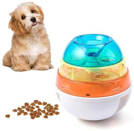 Buyter Pet Puzzle Fun Feeding Interactive Tumbler Three-Layer Leaking Food Dispenser Meal Ball Resin Toy