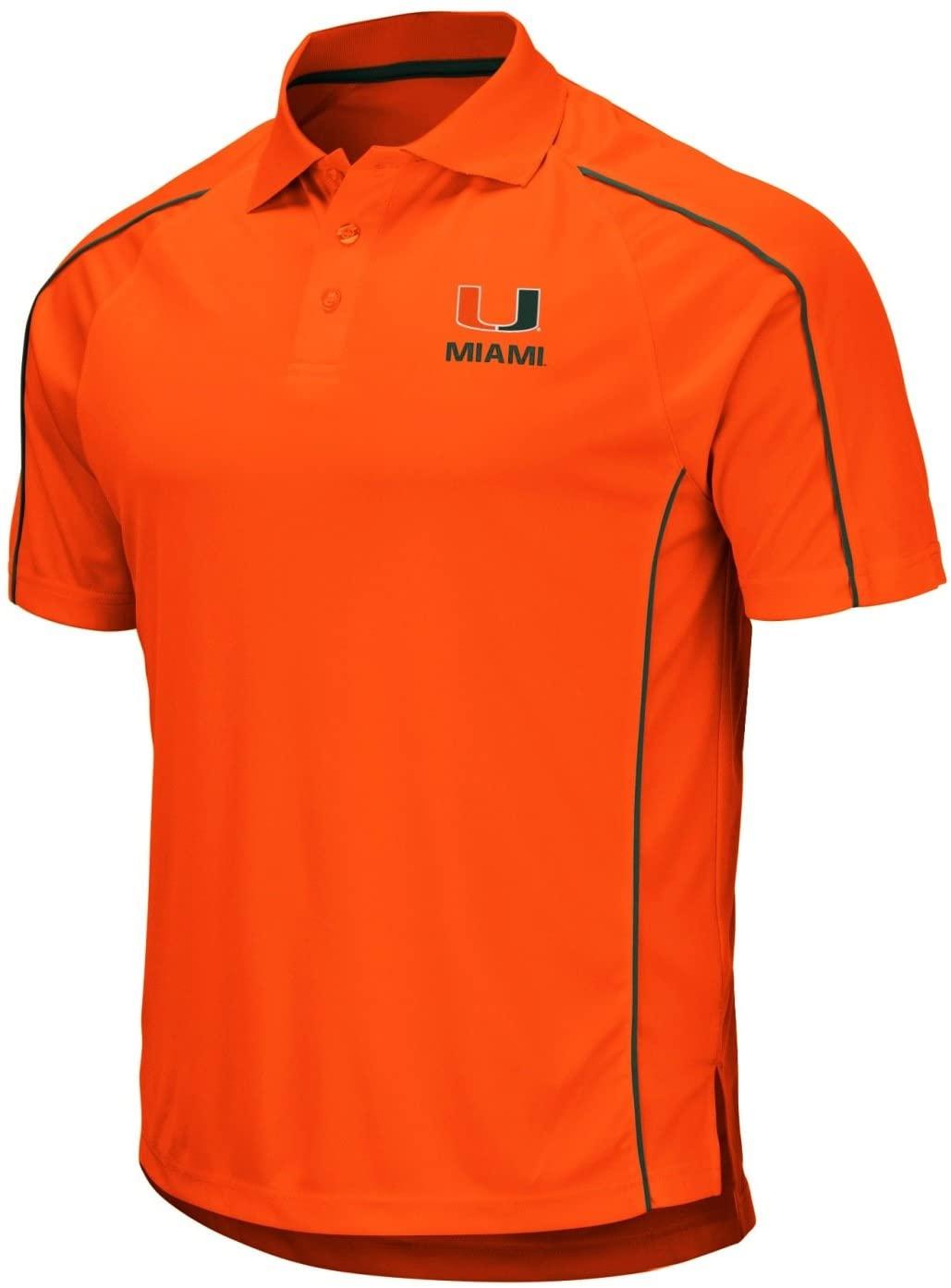Stadium Athletics Miami Hurricanes NCAA Bunker Men's Performance Polo Shirt