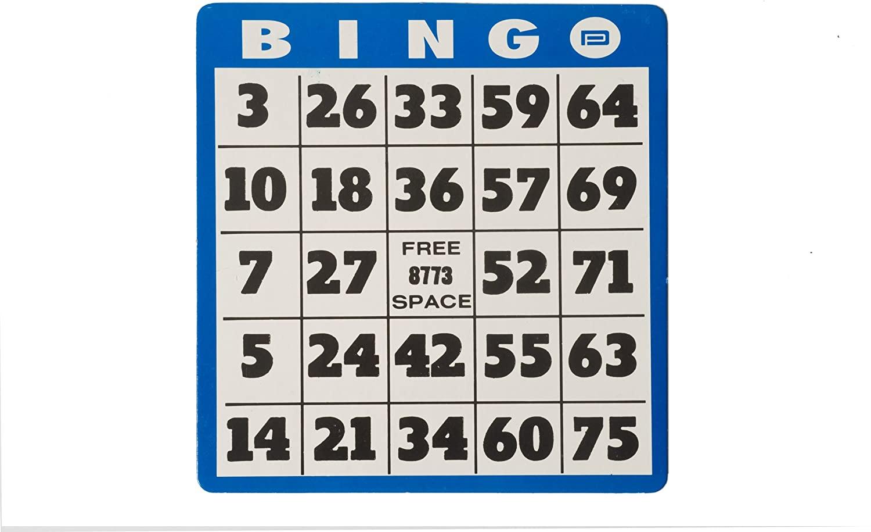 Large Print Bingo Card