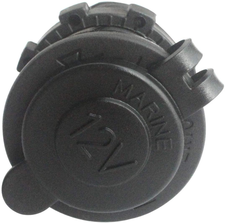 BANDC Waterproof Marine Motorcycle ATV Rv Lighter Socket Power Outlet Socket Receptacle 12v Plug